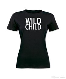 Опт 2017 Модный бренд harajuku женская футболка Wild Child Cool женская футболка Модный бренд harajuku фитнес-панк топ 2017