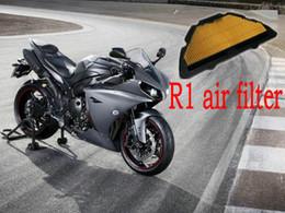 Vente en gros Filtre à air à haut débit de moto modifié pour filtre à air pour Yamaha YZF R1 2004-2006 année