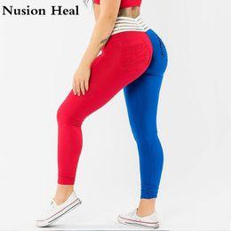 Super Tight Yoga Pants NZ - Super Stretchy Women Gym Tights Energy Seamless Tummy Control Yoga Pants High Waist Sport Leggings Purple Running Pants Tights