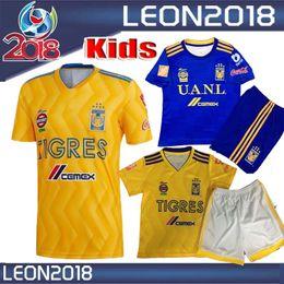 1bc385654 Kids kits 2018 2019 6 star Tigres UANL home soccer jersey GIGNAC GUERRON 18  19 CHICHARITO R.MARQUEZ child youth football Shirt
