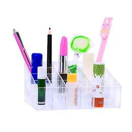 Acrylic Makeup Storage Organizer Australia - Hoomall 1PC Acrylic Cosmetic Pen Holder Organizer Lipstick Makeup Organizer Multifunctional Women Jewelry Storage Box Display