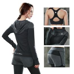 Cotton Print Material NZ - 2016 New High quality Yoga Sets Women Gym Clothes Cotton Blends Material Breathable Sports Bra + Pants + Shirt Yoga Set Women