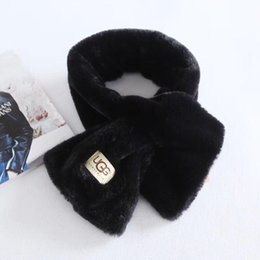 Chinese  New Brand Girls Scarves Brand Kids And Children Velvet Scarf Fluffy Soft Fur Textile Scarf Fashion Winter Ring Scarf. manufacturers