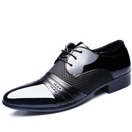 designer oxford shoes 2018 - SZSGCN-designer luxury brand patent leather black italian mens shoes brands wedding formal oxford shoes for mens pointed