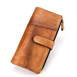 cbe74a3a5 Joyir new carteira de couro genuíno dos homens longo design de moda carteiras  de moda splice mens bolsa multi-função titular do cartão carteira