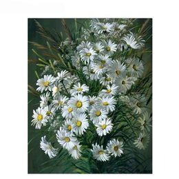 Peinture Acrylique Fleurs De Toile Distributeurs En Gros En Ligne