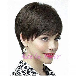 Glueless Lace Celebrity Wigs Australia - Celebrity Fashion Women bob lace wig Brazilian Very Short Wigs Cheap Pixie Cut Natural Black Human None Lace Glueless Wig For Black Women