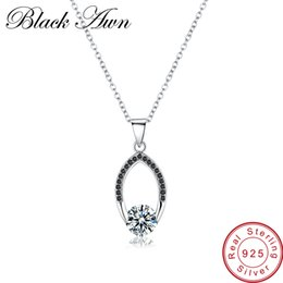 $enCountryForm.capitalKeyWord NZ - [BLACK AWN] Genuine 100% 925 Sterling Silver Jewelry Necklace for Women Female Bijoux Necklaces Pendants P086 Y1892705