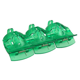 Golf aliGnment traininG aids online shopping - 10pcs Green Golf Ball Alignment Tool Golf Ball Line Marker Tool Plastic Golf Training Aids New Promotion