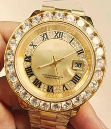 $enCountryForm.capitalKeyWord Canada - Huge diamonds bezel big size wrist watch mordes brand hip hop rappers full iced out silver case red face dial automatic mens wristwatches