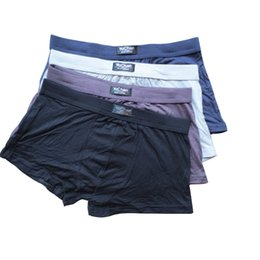 mens underwear UK - Mens Bamboo fiber Underwear Sexy Pure color Boxers Boxer shorts Mixed Color order