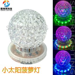 Crystal Light Usa Australia - Small sun pineapple lamp Mini colorful revolving light laser crystal magic ball stage room decoration