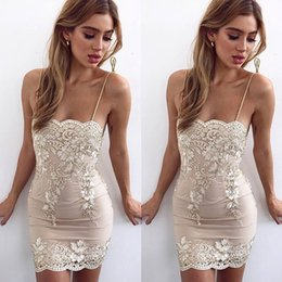 0059429036 Floral Embroidery Lace Dress Women Strap Sleeveless Gold Mini Cotton Dresses  Women 2018 Summer Backless Sexy Celebrity Party Dresses