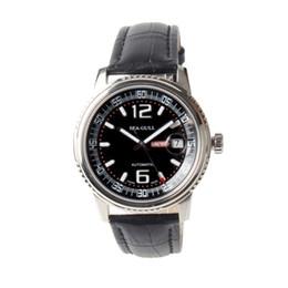 Discount self luminous watch automatic - Seagull Dress Watch Self-winding Exhibition Back Luminous Hours ST2130 Movement Date Automatic Men's Watch M306S Bl