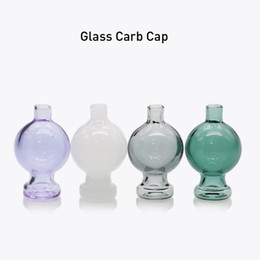 Discount dabbing accessories - Quartz Banger Bubble Carb Cap Colored UFO Hat Style Dome Dab Tools Smoking Accessories For Cyclone Banger Nails Dabber G