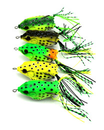 ray frog lure NZ - Atificial Plastic Ray Frog Fishbait Treble Hooks bait 6cm 12g Floating Swimming Blackfish Soft gamefish Fishing lure