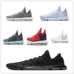 31a456239a742b Zoom KD 10 Basketball Shoes Men Men s Blue Tennis BHM Kevin Durant 10 Elite  Floral Aunt Pearls Easter Sport Shoes