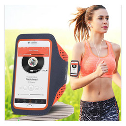 cell phone case football 2019 - Wholesale-5.5'' Waterproof Sports Jogging Gym Armband Running Bag Touch Screen Cell Phone Arm Wrist Band Hand Mobile Pho