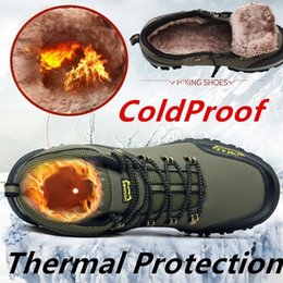 Winter Snow Shoes Canada - Winter Men High Quality Mountain Climbing Boot with Thermal Protection and Cold-proof Functions Safety Work Shoes Snow Boots Waterproof