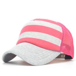 Baseball Cap Stripe UK - Baseball Cap Men Dad Hat Women Sports Casual Stripe Bend Visor For Ventilated Mesh Hats Male Bone Fitted cap Baseball hats