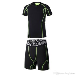 $enCountryForm.capitalKeyWord Canada - Wholesale-Kids Running Shorts Sets Sportswear Compression Clothes Fitness Basketball Soccer Football Tennis Shirts Gym Sports Suit