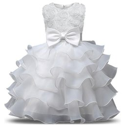 Chinese  Flower Girl Dress For Wedding Baby Girl 0-10 Years Birthday Outfits Children's Girls First Communion Dresses Girl Kids Party Ball Gown manufacturers