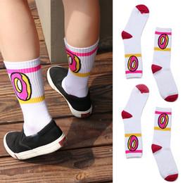 558e5d279542 1 Pair future socks donut graphic men women cute cotton long socks novelty  striped skateboard wholesale