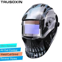 Weld mask darkening online shopping - Out Adjust Big View Eara Arc Sensor Grinding Cutting Solar Auto Darkening TIG MIG MMA Welding Mask Helmet Welder Cap Face Mask