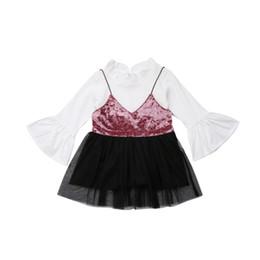 328d23c1d9 Niños lindos Conjuntos de ropa Ropa de invierno Boutique para niños Traje de  manga angosta Tops Correas Faldas Ropa infantil Ropa de niñas Conjunto