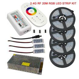 Rgb Wireless Controller Australia - 20M 15M 10M 5050 IP67 Waterproof RGB LED Strip Full Kit + 2.4G RGB Wireless RF Remote Controller + AC110V 220V Power Supply