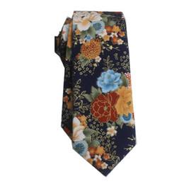 $enCountryForm.capitalKeyWord Australia - men's necktie cotton 6cm ties for man print tie skinny flower neckwear business suit shirt accessories red black finest