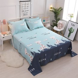 $enCountryForm.capitalKeyWord NZ - Cartoon Cotton printing Bedding Flat Sheet Bed Linens Single   double Bedsheets Home Textile Twin Full Queen size bed flat sheet