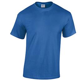 Camisa em T dos homens em branco por atacado Dos Homens de Trabalho Liso  Tomada de Fábrica T Azul Royal camiseta Homens Impressão Menino  Personalizado de ... b37fb09a9183f