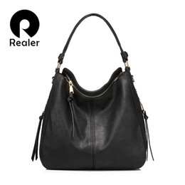 5c18b29d25 REALER Brand Handbag Women Shoulder Bag Female Large Tote Bags Hobo Soft  Artificial Leather Ladies Crossbody Messenger Bag Purse