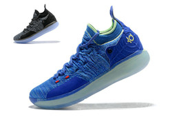 shoes new zoom kd Canada - 2018 new KD 11 Still KD women New Kevin Durant Black Basketball shoes Zoom KD 11 Paranoid LIMITED Kevin Durant big boy sports sneakers