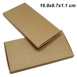 brown paper gifts Canada - 16.9x8.7x1.1 cm 30 Pcs Brown Kraft Paper Candy Cakes Storage Packaging Boxes Kraft Paper Gifts Packaging Boxes for Jewelry DIY Handmade Soap