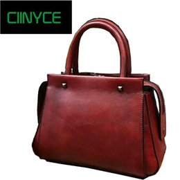 2018 Genuine Cow Leather New Unique Designer Original Brand Women s Handbags  Satchel Small Totes Crossbody shoulder Vintag bags d9b2f1c337556