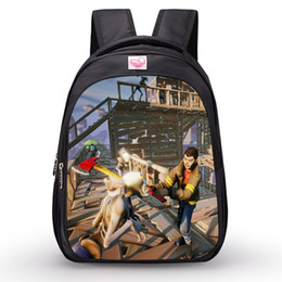 Discount good quality girls school bags - 2018 New Fortnite Cartoon Student School Bag Oxford Cloth Backpacks Game Fortnite Print Ba Shoulders bag 25 Colors good