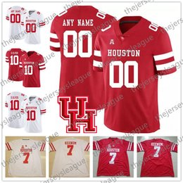 Houston Cougars Custom  7 Case Keenum 10 Kyle Allen Red White Stitched Any  Number Any Name NCAA College Jerseys 2018 UH S-3XL e5abf74d8