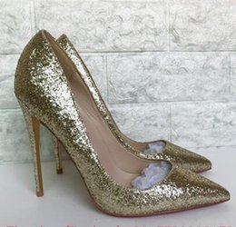 $enCountryForm.capitalKeyWord NZ - 2018 Top Quality Women Pumps Pointed High Heels Elegant Bridal Women Shoes Gold Glitter Wedding Shoes Bling So Kate Sapato Feminino