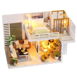 Handmade Miniature DollHouse Furniture Online Shopping   Diy Miniature  Wooden Doll House Furniture Kits Toys Handmade