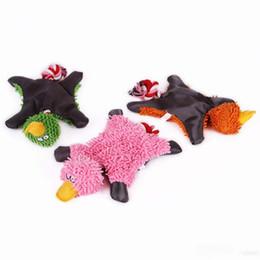 Pet Puzzle Toys NZ - Pet dog plush puzzle bite-resistant teeth vocal dog toy Lovely 28*18cm Pet Supply Cute Duck Plush toys