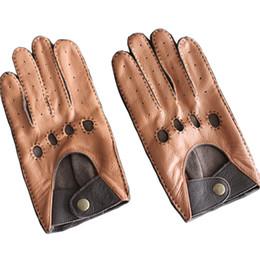 $enCountryForm.capitalKeyWord Australia - Fashion Autumn and Winter Lambskin Men Leisure Genuine Leather Gloves Wrist Breathable Sheepskin Driving Glove Free Shipping D18110705