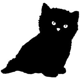 Green truck cars online shopping - HotMeiNi Black Kitten Car Sticker For Truck Window Bumper Auto SUV Door Kayak Vinyl Decal Colors