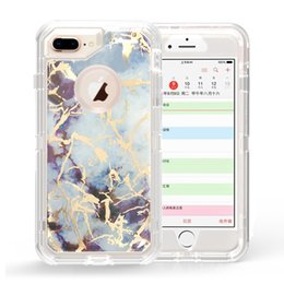 $enCountryForm.capitalKeyWord Australia - Hot sale for iphone 6 cases marble grain hybrid 2in1 robot case tpu+pc full protective defender case