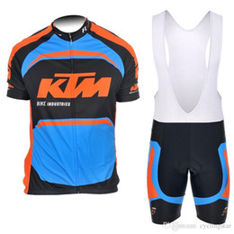 f525c4b4f 2017 Team KTM short sleeve cycling jersey bib shorts suits Quick dry  Breathable men mountain bicycle Clothing racing Bike Wear J201