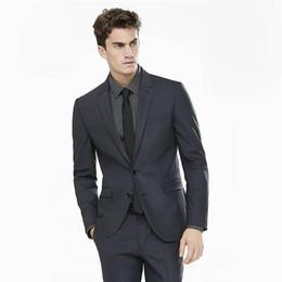 $enCountryForm.capitalKeyWord Canada - 2018 Black Business Suits Blazer Men Suits For Wedding Suits Evening Dress Slim Fit Formal Custom Made Tuxedos Best Man Prom Jacket+Pant