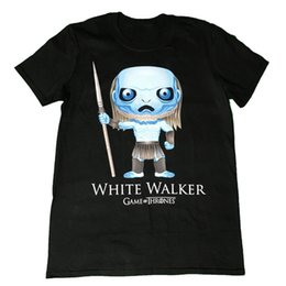 $enCountryForm.capitalKeyWord UK - Game Of Thrones - White Walker Pop Art - Official Mens T Shirt 100% Cotton Print Mens Summer O-Neck