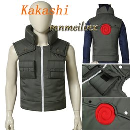 Wholesale kakashi hatake naruto cosplay for sale - Group buy Hot Cakes Anime Naruto Hatake Kakashi Cosplay Costume Kakashi Vest Accessories Kakashi Naruto Suit Customize Unisex Any Size