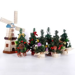 merry christmas tree table decoration festival table miniature mini pine tree ornaments christmas decoration home decor gift